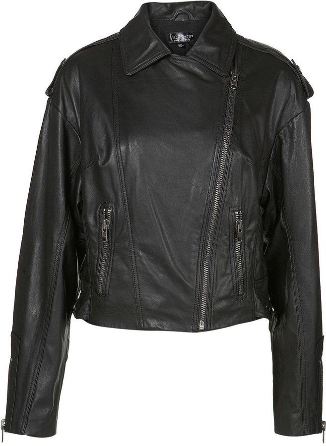 Batwing Leather Biker Jacket