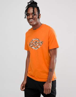 Dickies T-Shirt With Camo Logo In Orange