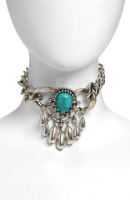 DYLANLEX DLNLX BY Gianna Turquoise Choker Necklace