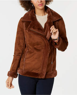 Style&Co. Style & Co Faux-Shearling Moto Jacket