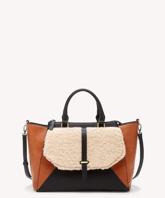 Sole Society Drury Satchel Sherpa Mix Satchel