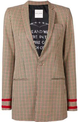 Each X Other Houndstooth Check Blazer