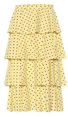 Baum und Pferdgarten Scarlet printed cotton-blend skirt