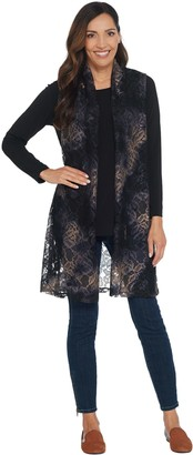 Susan Graver Printed Lace Vest & Knit Tunic Set