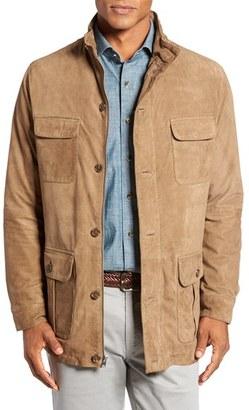 Men's Peter Millar Suede Safari Jacket $695 thestylecure.com