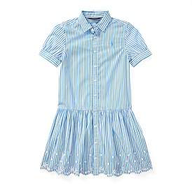 Polo Ralph Lauren Striped Cotton Shirtdress(8-14 Years)