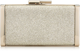 Jimmy Choo J BOX Platinum Ice Dusty Glitter Clutch Bag