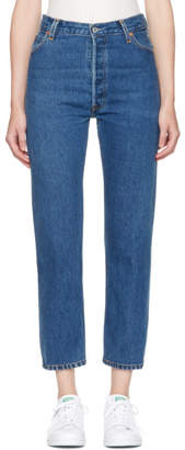 RE/DONE Indigo High-Rise Straight Crop Jeans
