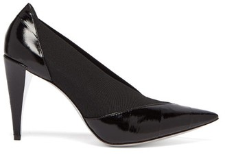 Givenchy Show Elasticated Insert Eel Skin Pumps - Womens - Black