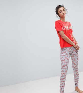 Asos Tall Coca Cola Acid Wash Tee & Legging Pyjama Set