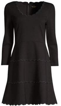 Kate Spade Broome Street Scallop Ponte Dress