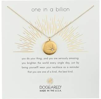 Dogeared One In A Billion, Sparkle Star Disc Necklace Necklace