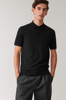 Cos POLO SHIRT WITH METALLISED FIBRES