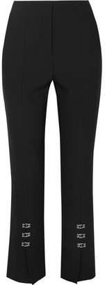 Jonathan Simkhai Embellished Crepe Straight-leg Pants - Black