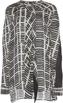 Atlein Cross Draped Silk Shirt