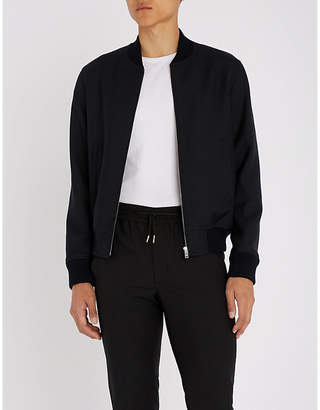 Sandro Stand-collar woven bomber jacket