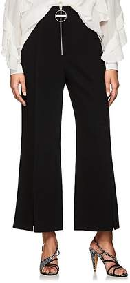 Givenchy Women's Zip-Detail Wool Wide-Leg Trousers