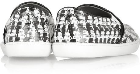 Karl Lagerfeld print coated-canvas slip-on sneakers