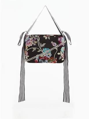 Very Oriental Bird Embellished Bow Chain Strap Bag