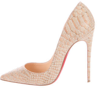 Christian Louboutin Embossed So Kate Pumps $495 thestylecure.com