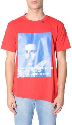 Off-White Off White Round Collar T-shirt