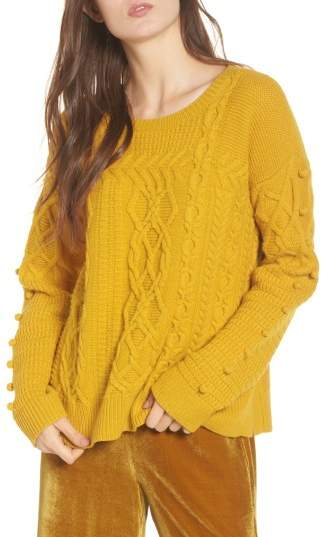 Women's Madewell Open Side Bobble Pullover Sweater