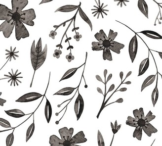 Pottery Barn Inked Florals Wall Decal