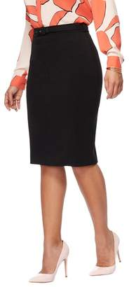 The Collection Petite - Black Belted Petite Suit Skirt