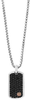 Effy Black Sapphire, 18K Rose Gold and Sterling Silver Pendant Necklace