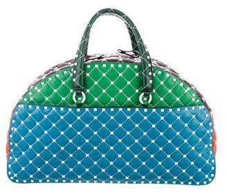 Valentino Free Rockstud Spike Leather Bowling Bag