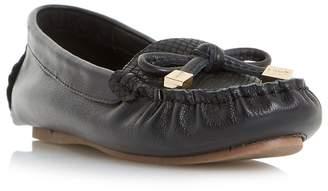 Dune Black 'Genovia' Bow Detail Loafer Shoes