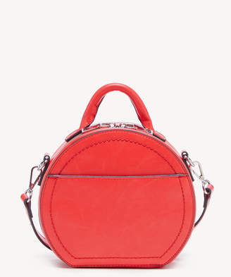 Sole Society Women's Glyso Round Crossbody Bag Faux Leather Poppy From