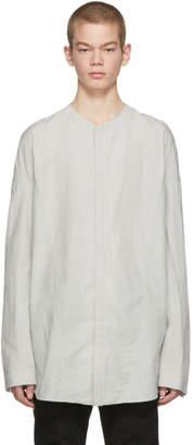 Julius Grey Seamed Collarless Shirt