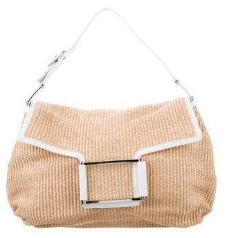 Lambertson Truex Leather-Trimmed Straw Bag