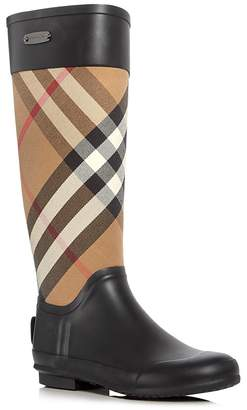 Burberry Women's Clemence Signature Check Rain Boots