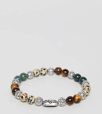 Reclaimed Vintage Inspired Beaded Bracelet With Semi Precious Stone Exclusive To ASOS