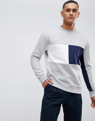 New Look sweatshirt with crew neck in gray marl