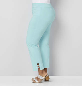 Avenue Silver Ring Ankle Pull-On Pant