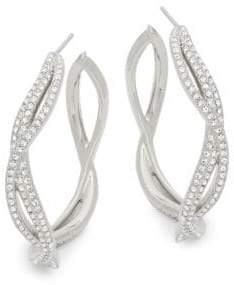 Adriana Orsini Helix Cubic Zirconia Hoop Earrings