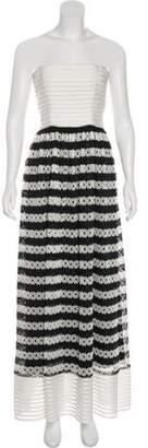 Alexis Strapless Maxi Dress White Strapless Maxi Dress
