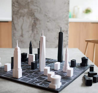 Skyline Chess New York City Architectural Chess Set With Map Board