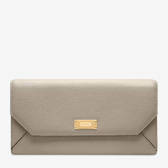 Bally Linney Suzy Grey, Women's grained bovine leather continental wallet in wheat