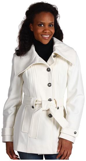 Nautica - Short Wool Coat w/ Belt
