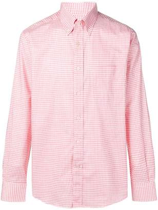 Canali checked button down shirt