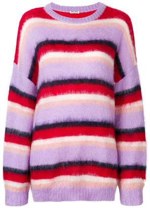 Miu Miu oversized striped sweater