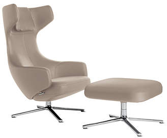 Design Within Reach Vitra Grand Repos Lounge Chair and Ottoman, Sand Leather at DWR