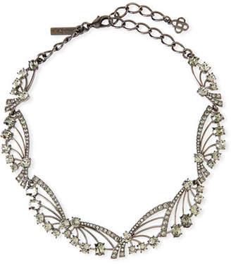 Oscar de la Renta Crystal Fan Necklace