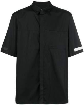 Helmut Lang contrast panel short sleeve shirt