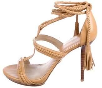 Michael Kors Leather T-Strap Sandals Leather T-Strap Sandals