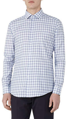 Reiss Knight Houndstooth Checked Slim-Fit Shirt